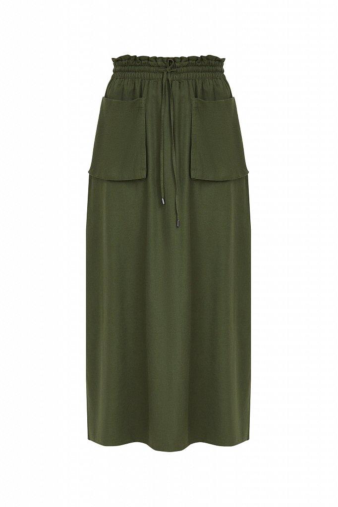 Льняная юбка макси, Модель S21-12074, Фото №6