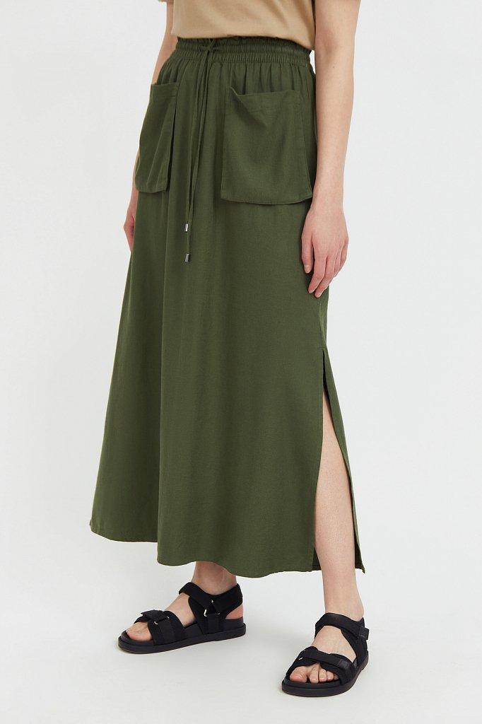 Льняная юбка макси, Модель S21-12074, Фото №3