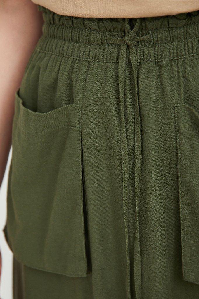Льняная юбка макси, Модель S21-12074, Фото №5