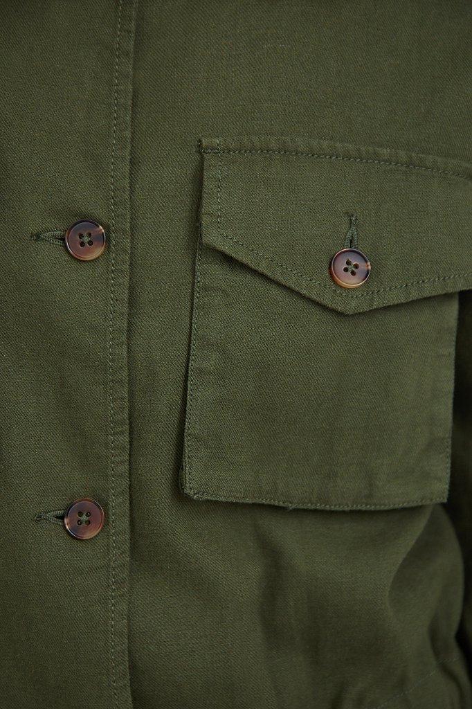 Льяной жакет с накладными карманами, Модель S21-12075, Фото №6