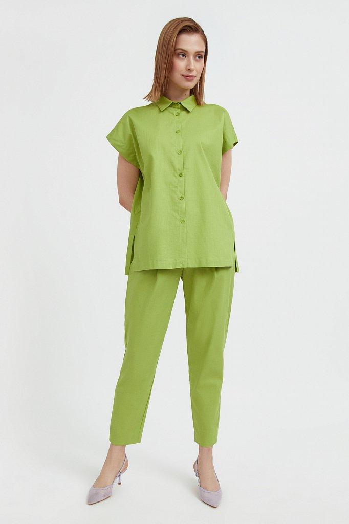 Хлопковая рубашка с короткими рукавами, Модель S21-11005, Фото №3