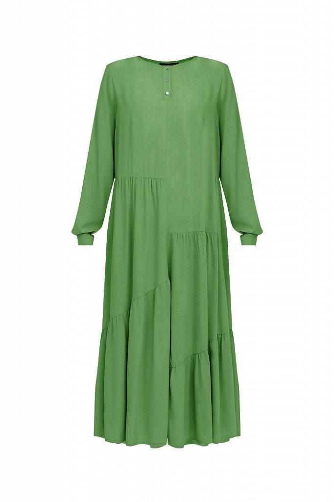 Платье-макси с асимметричными воланами, Модель S21-11078, Фото №7