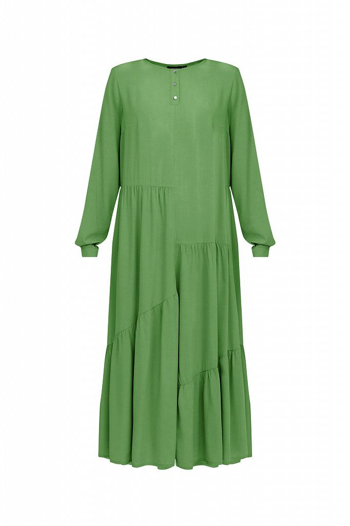 Платье с асимметричными воланами, Модель S21-11078, Фото №7