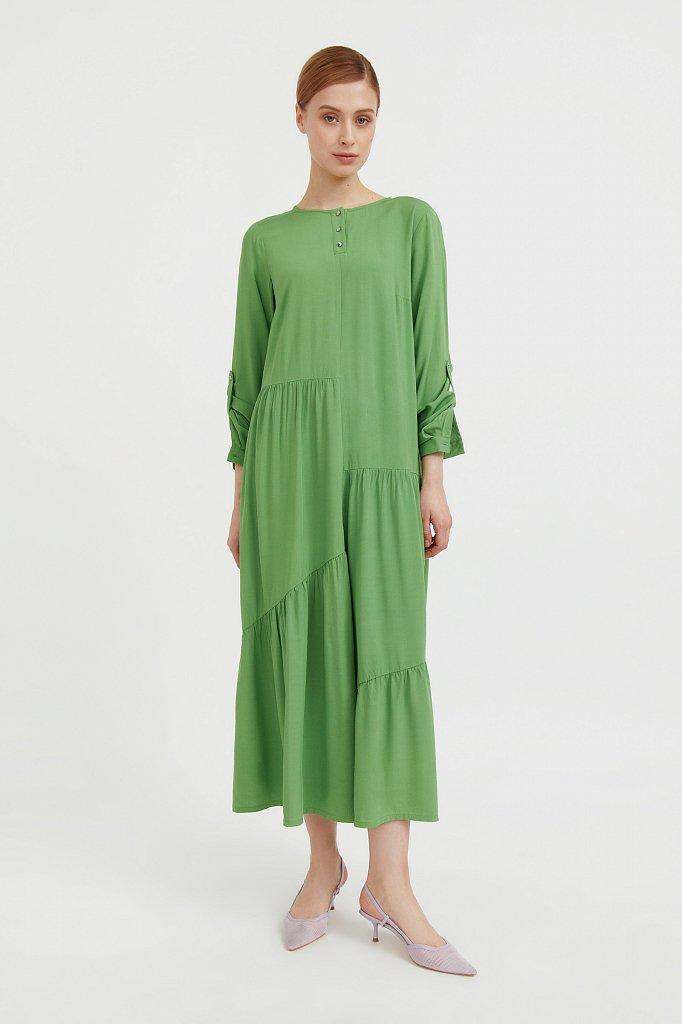 Платье с асимметричными воланами, Модель S21-11078, Фото №2