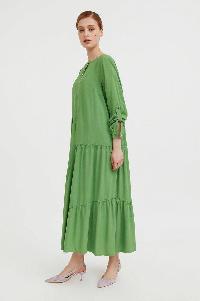 Платье с асимметричными воланами, Модель S21-11078, Фото №3