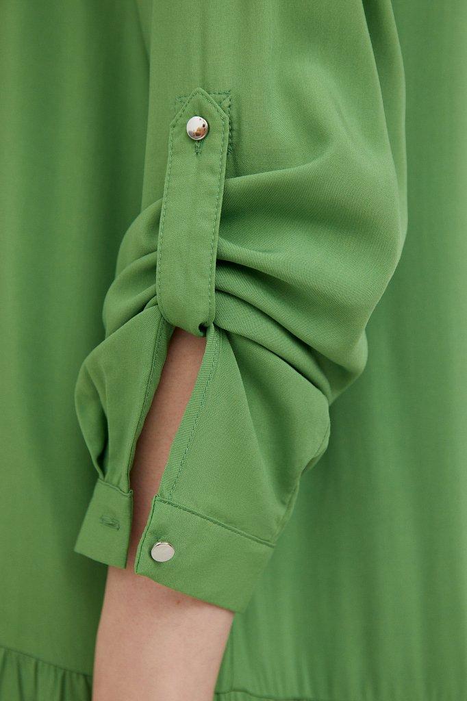 Платье с асимметричными воланами, Модель S21-11078, Фото №5