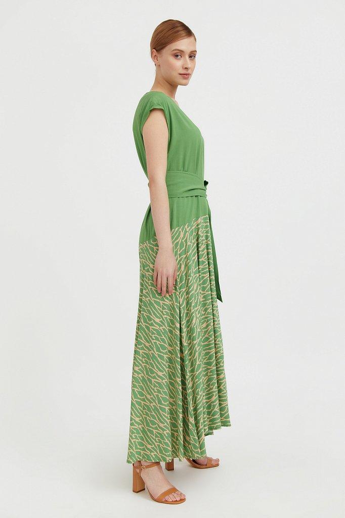 Комбинированное платье из вискозы, Модель S21-14003, Фото №3