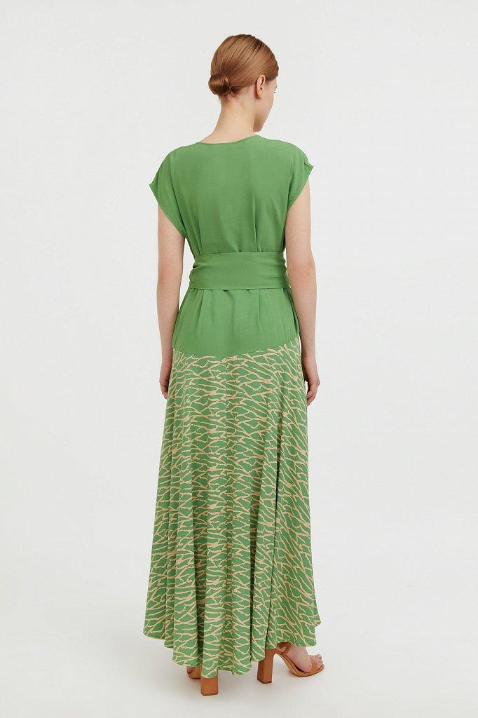 Комбинированное платье из вискозы, Модель S21-14003, Фото №4