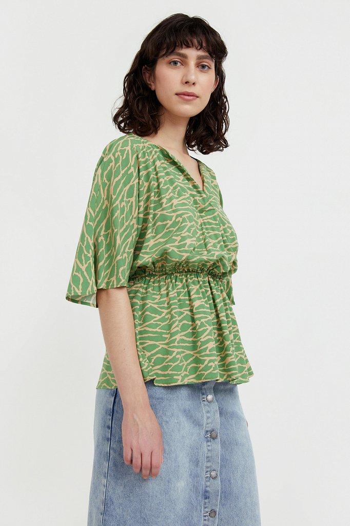 Блуза с принтом, Модель S21-14004, Фото №1