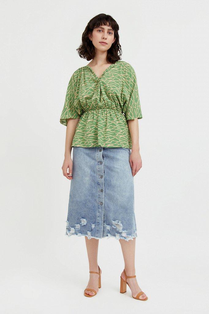 Блуза с принтом, Модель S21-14004, Фото №3