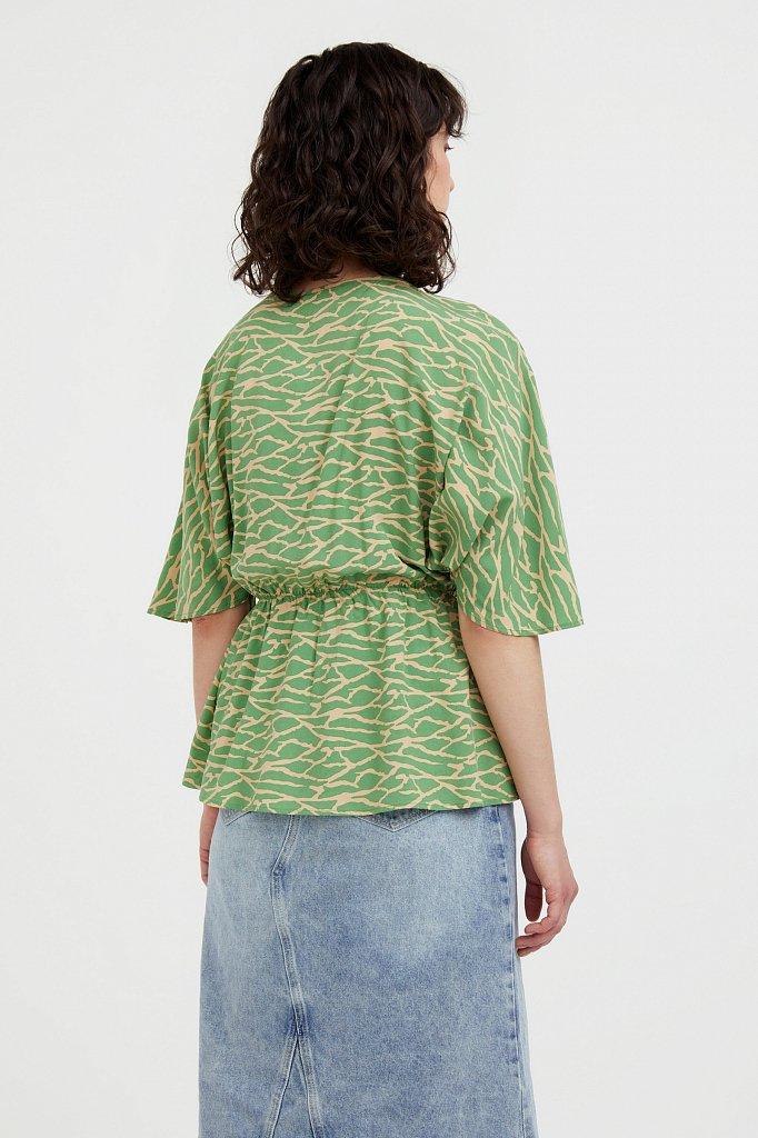 Блуза с принтом, Модель S21-14004, Фото №4