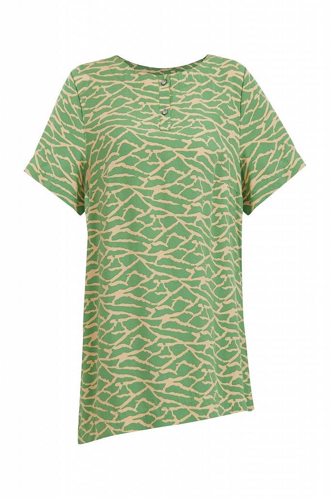 Свободная футболка с принтом, Модель S21-14075, Фото №7