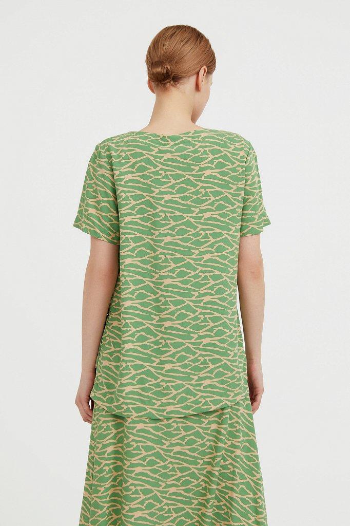 Свободная футболка с принтом, Модель S21-14075, Фото №4