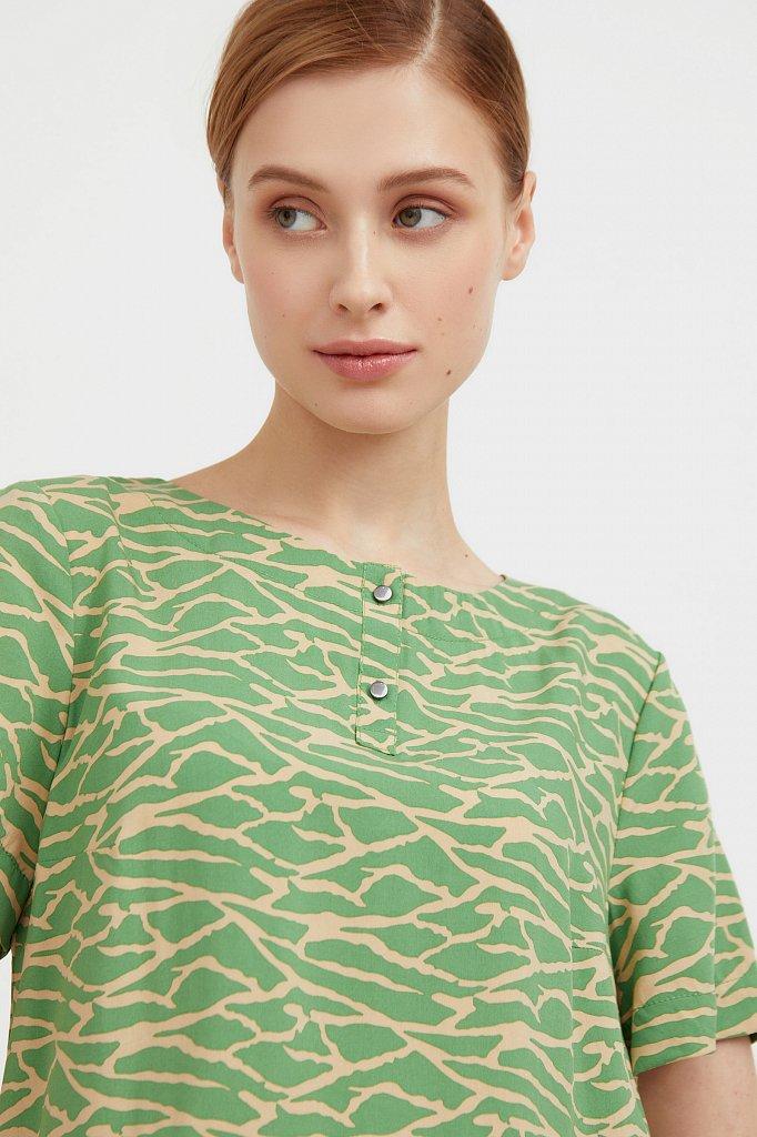 Свободная футболка с принтом, Модель S21-14075, Фото №6