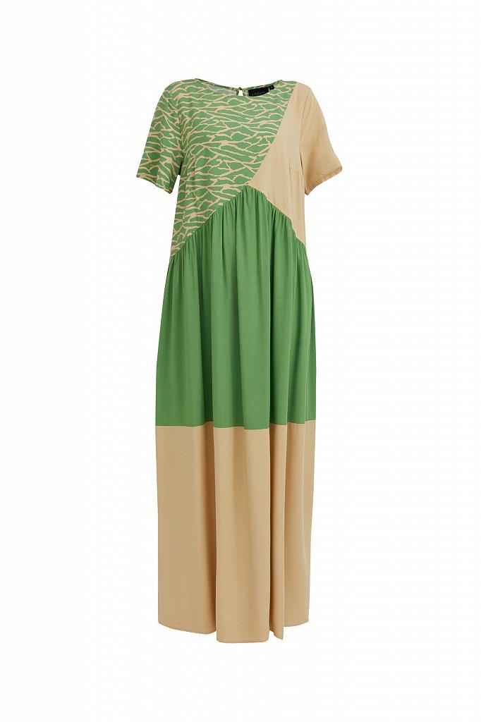 Комбинированное платье-макси, Модель S21-14089, Фото №7