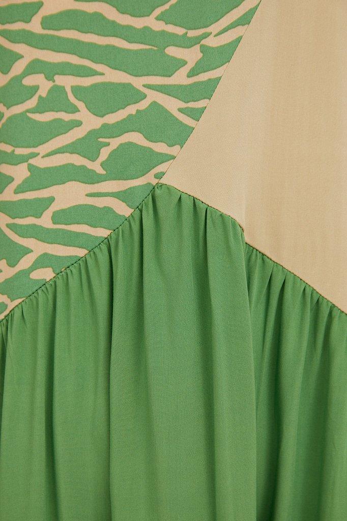Комбинированное платье-макси, Модель S21-14089, Фото №5