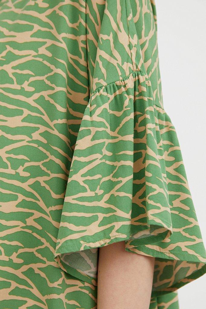 Платье-миди с асимметричными воланами, Модель S21-14090, Фото №5
