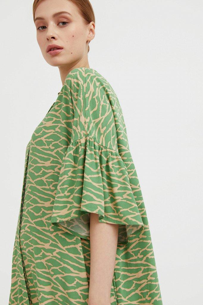 Платье-миди с асимметричными воланами, Модель S21-14090, Фото №6