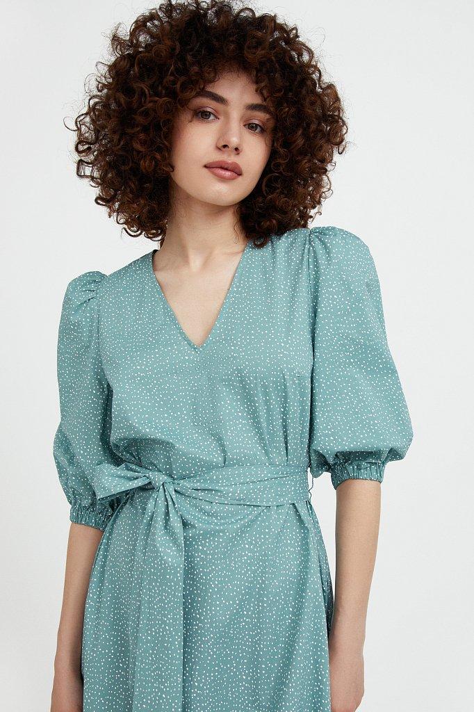 Платье асимметричного кроя с принтом, Модель S21-12044, Фото №6