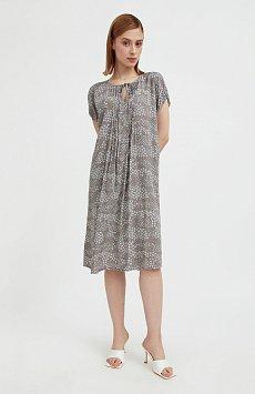 Свободное платье с цветочным принтом S21-12093