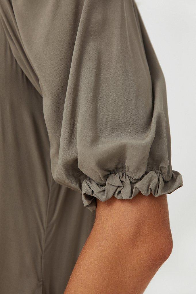 Платье свободного кроя с кружевом, Модель S21-110108, Фото №5