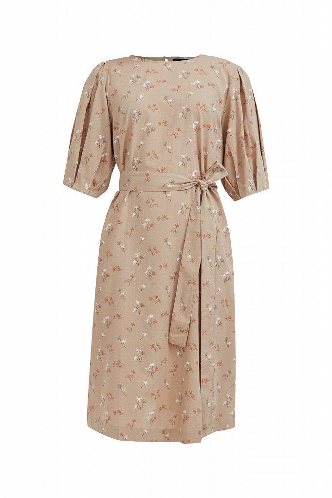 Хлопковое платье с поясом, Модель S21-11030, Фото №7