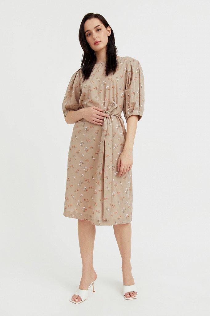 Хлопковое платье с цветочным принтом, Модель S21-11030, Фото №3