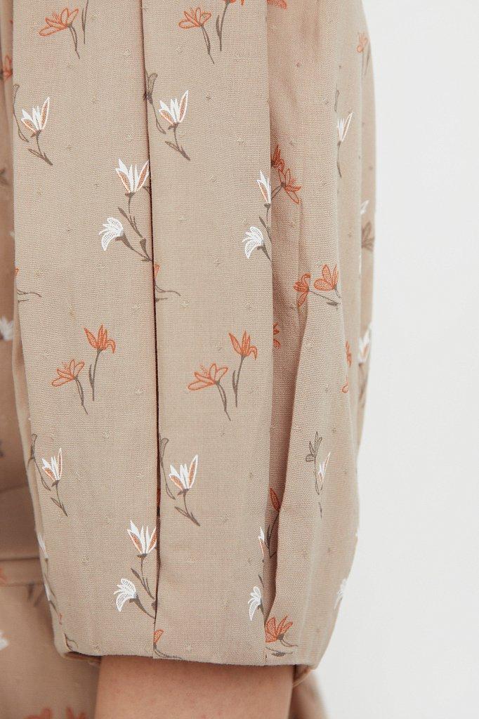 Хлопковое платье с поясом, Модель S21-11030, Фото №5