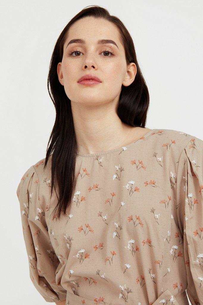 Хлопковое платье с цветочным принтом, Модель S21-11030, Фото №6