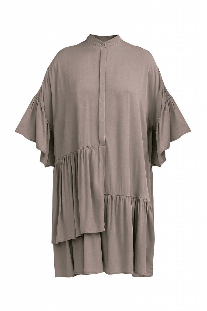 Свободное платье с асимметричными воланами, Модель S21-12023, Фото №7