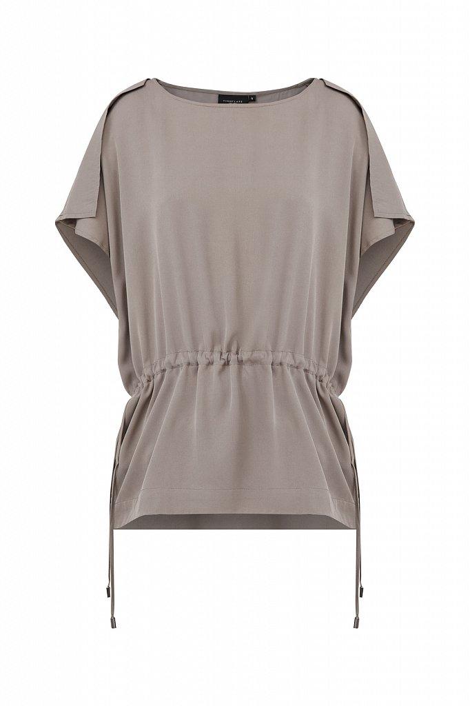 Однотонная блузка на кулиске, Модель S21-12024, Фото №7