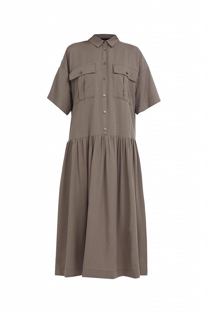 Платье-миди с драпировкой, Модель S21-12054, Фото №7