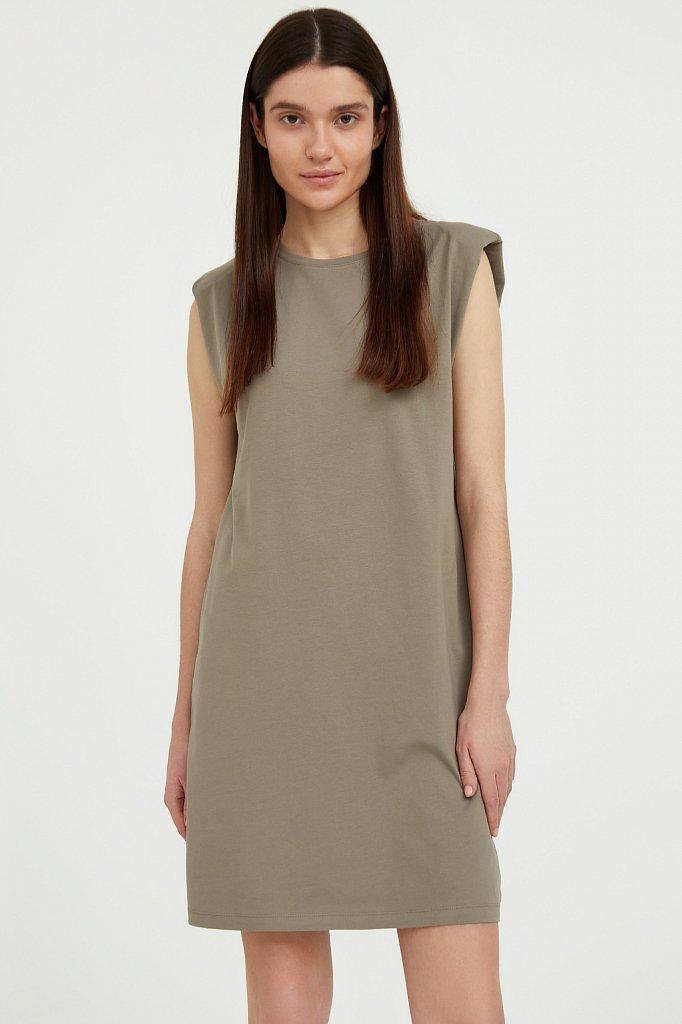 Хлопковое платье без рукавов, Модель S21-12091, Фото №2