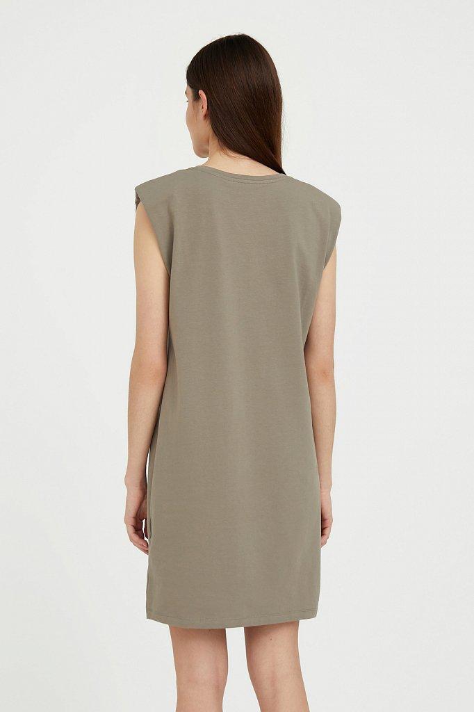 Хлопковое платье без рукавов, Модель S21-12091, Фото №4