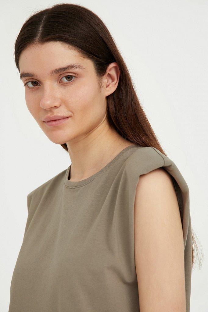Хлопковое платье без рукавов, Модель S21-12091, Фото №6