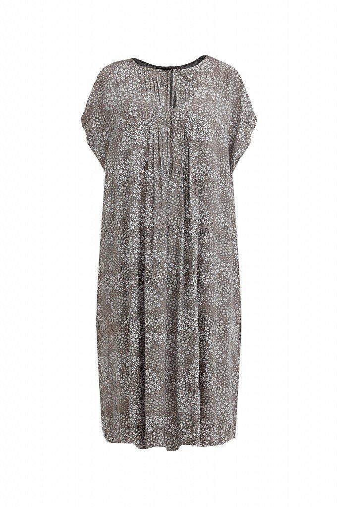 Платье с цветочным принтом из мягкой вискозы, Модель S21-12093, Фото №7