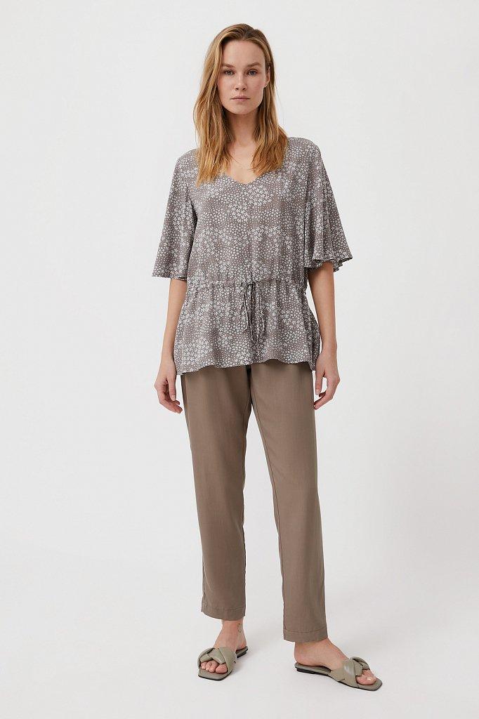 Блуза с мелким принтом, Модель S21-12097, Фото №2