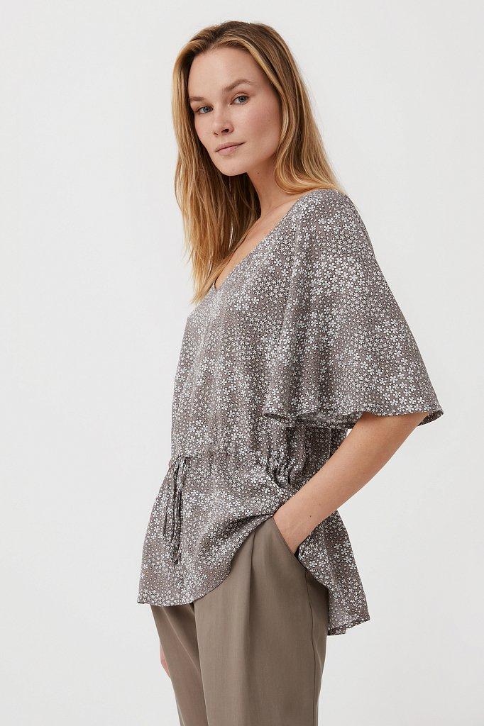 Блуза с мелким принтом, Модель S21-12097, Фото №3