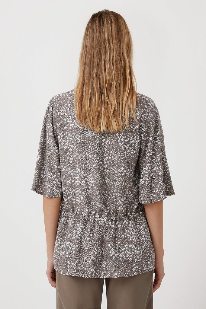 Блуза с мелким принтом, Модель S21-12097, Фото №4