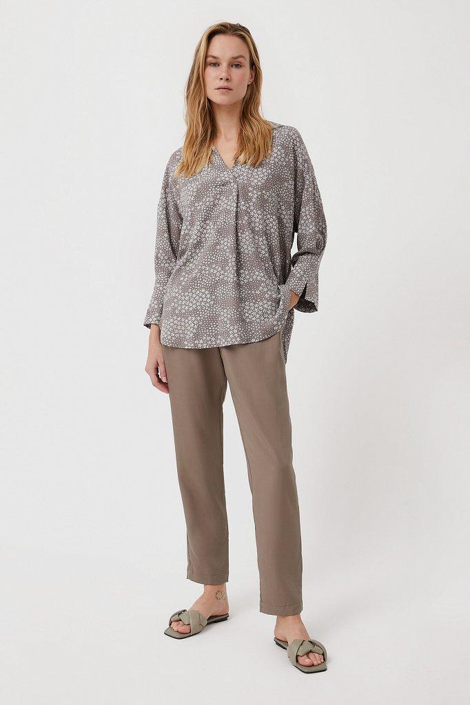Блуза с цветочным узором, Модель S21-12098, Фото №2