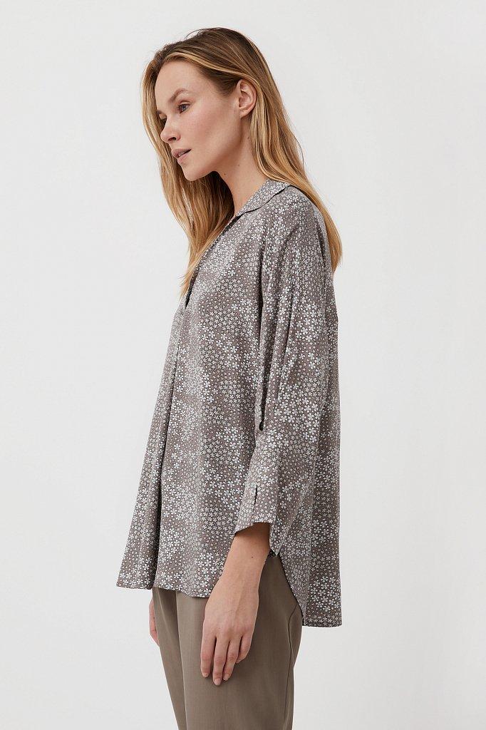Блуза с цветочным узором, Модель S21-12098, Фото №3