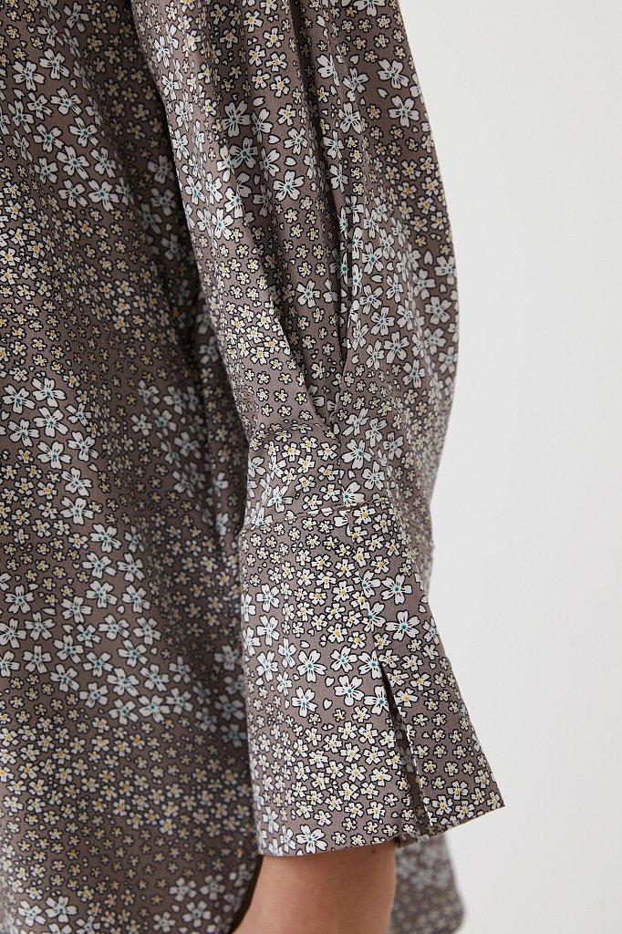 Блуза с цветочным узором, Модель S21-12098, Фото №5