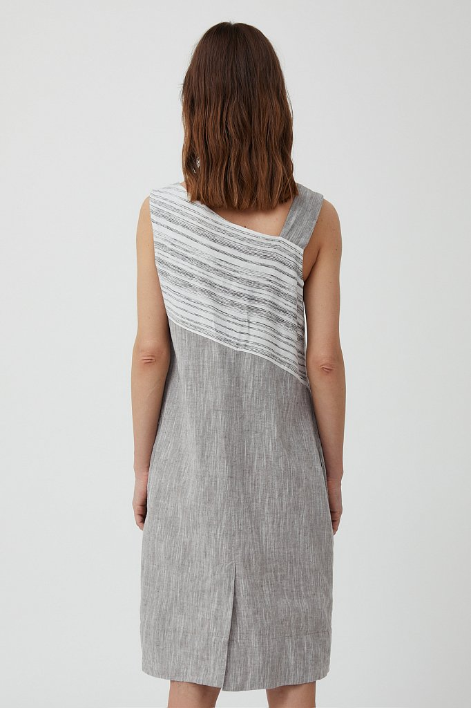Платье из льна и хлопка, Модель S21-14036, Фото №4