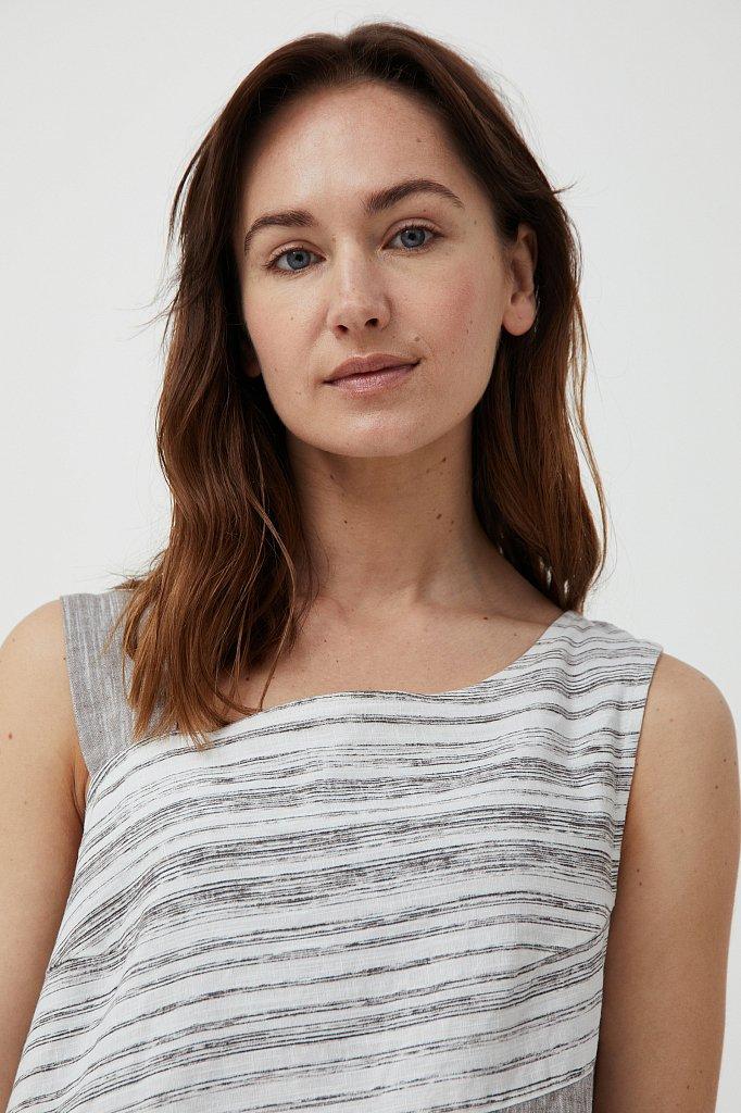 Платье из льна и хлопка, Модель S21-14036, Фото №5