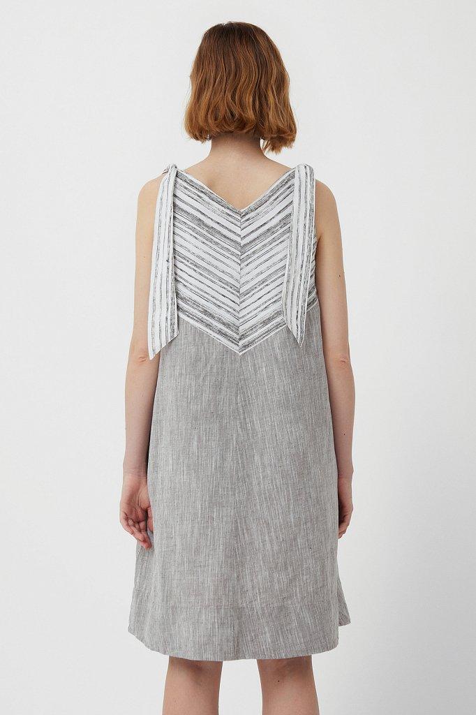 Хлопковое платье с принтом, Модель S21-14039, Фото №4