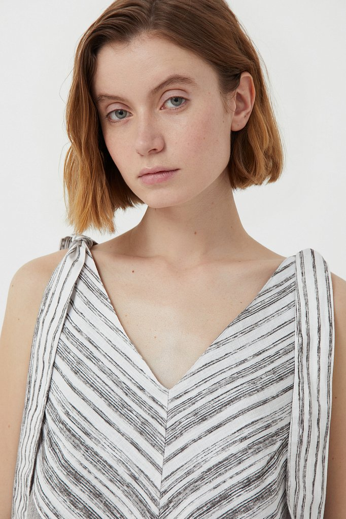 Хлопковое платье с принтом, Модель S21-14039, Фото №6