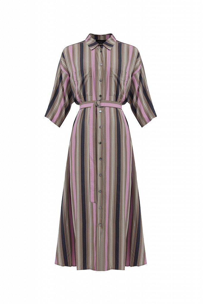 Платье-рубашка в яркую полоску, Модель S21-14078, Фото №7