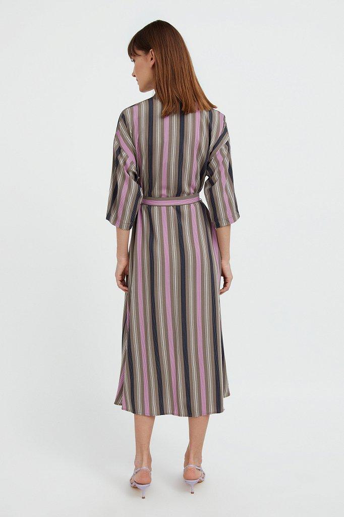 Платье-рубашка в яркую полоску, Модель S21-14078, Фото №4