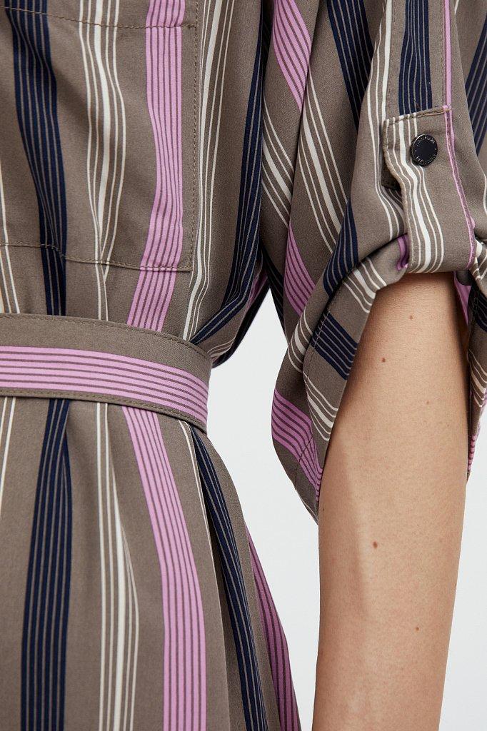 Платье-рубашка в яркую полоску, Модель S21-14078, Фото №5