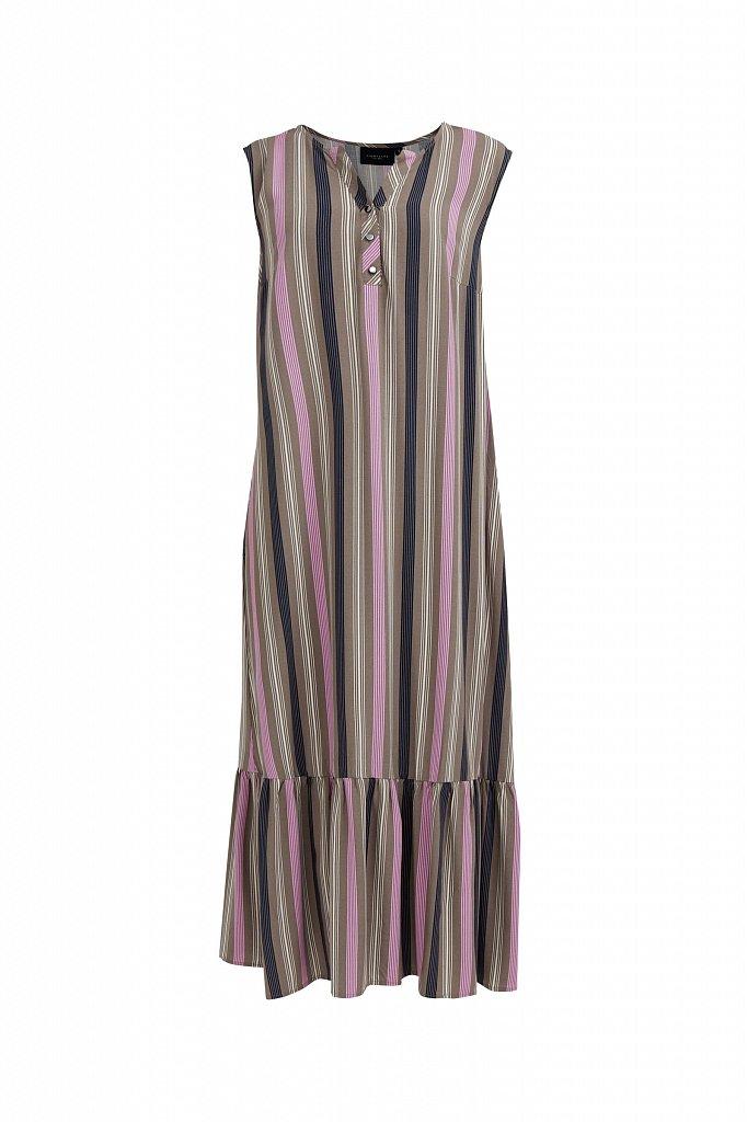 Полосатое платье с воланами, Модель S21-14079, Фото №7